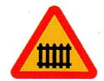 التقاطع مجهز ببوابة او حاجز ومجهز باشارات صوتية وضوئية.