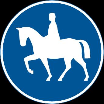 طريق مخصص لعبور الخيول و المشاة
