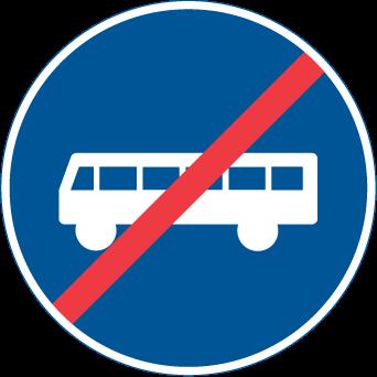 نهاية الحقل المخصص لعربات النقل العام