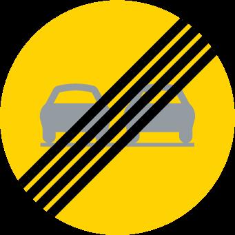انتهاء منع التجاوز لجميع السيارات