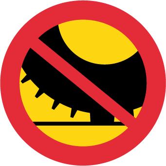 ممنوع استعمال الإطارات المدببة