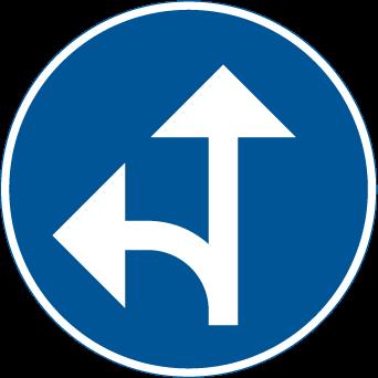 السير باتجاه الامام و الانعطاف الى اليسار