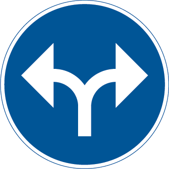 الانعطاف الى اليمين او الى اليسار